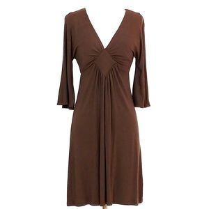 Muse Brown Fit and Flair Dress